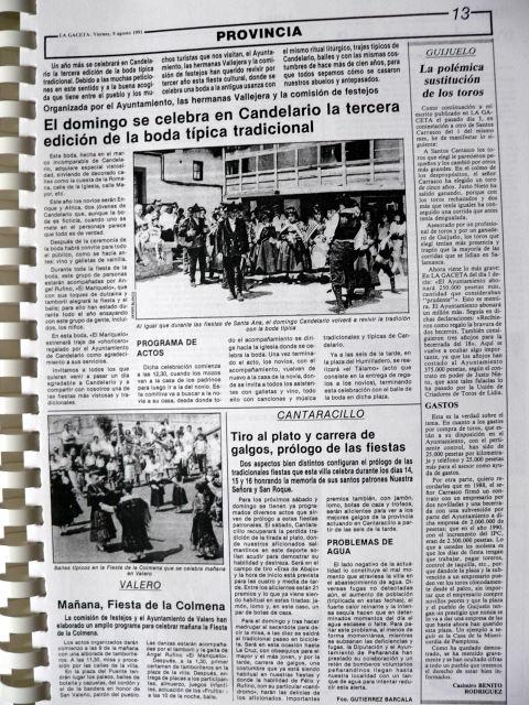Boda típica 1991 -La Gaceta  9 agosto 1991