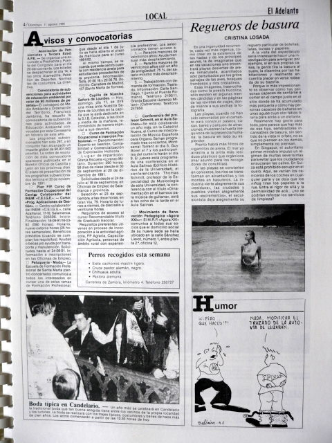 Boda típica 1991 El Adelanto 11.08.1991