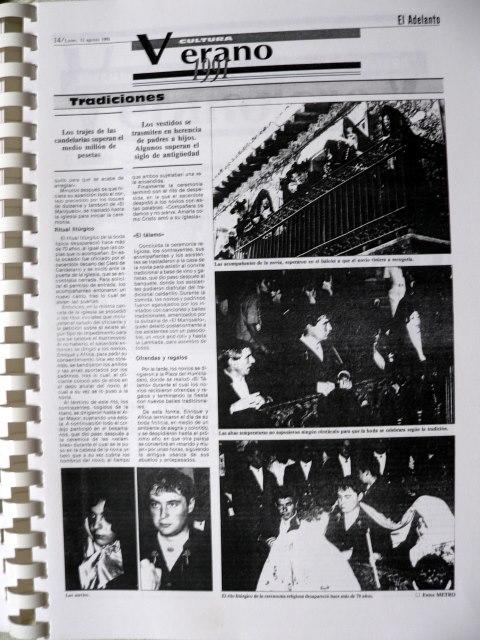 Boda típica 1991 El Adelanto 12 aosto 1991