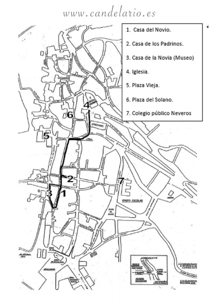 mapa candelario